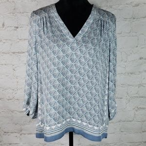 Joie Jesslyn print silk top size Small